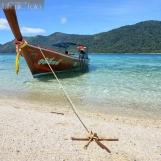 Reaching the island