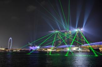 Singapore Marina Bay Lasershow